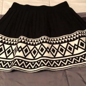 Cute black sweater circle skirt with cream design